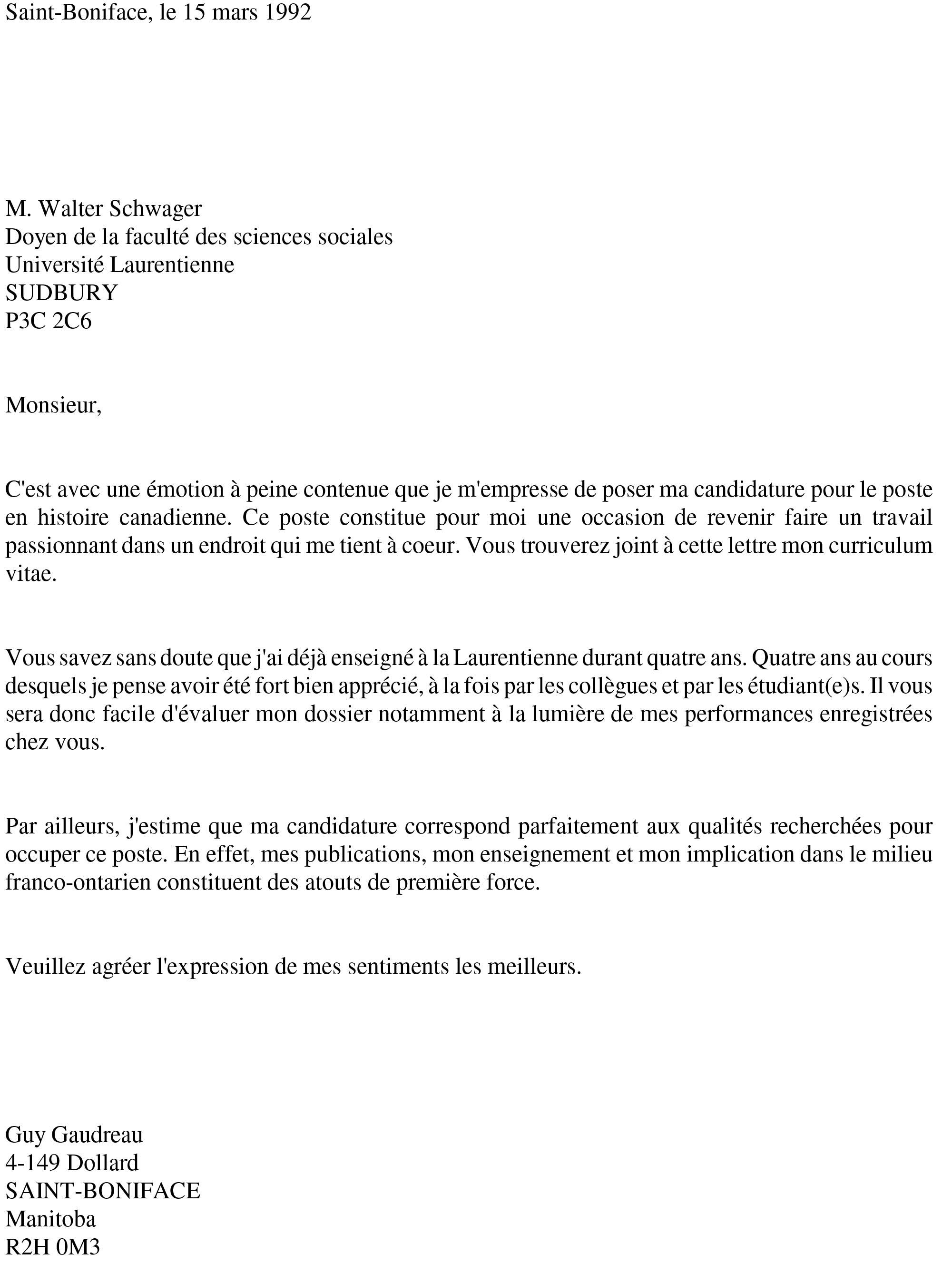 Je Vous Soumets Ma Candidature Au Poste Vinny Oleo Vegetal Info